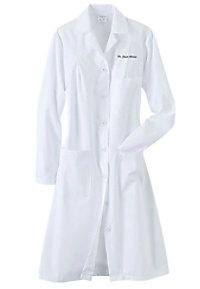Fashion Seal ladies full length lab coat.