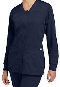 Greys Anatomy 4 Pocket Button-front V-neck Scrub Jackets