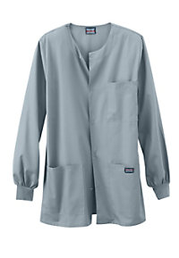 Cherokee Workwear Mens  Snap Front Scrub Jacket
