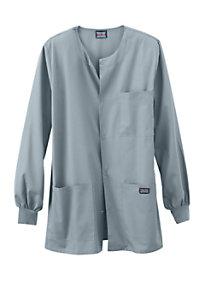 Cherokee Workwear Mens Snap Front Scrub Jacket