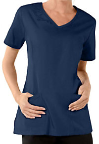 Cherokee Workwear v-neck embroidered scrub top.