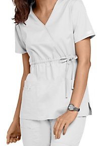 Cherokee Workwear Core Stretch empire wrap scrub top.
