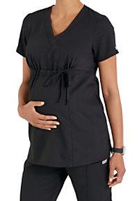 Greys Anatomy maternity mock wrap scrub top.