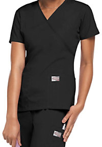 ScrubZone mock-wrap scrub top.