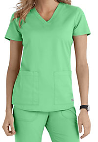 Greys Anatomy v-neck 2-pocket scrub top.