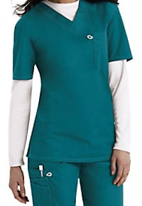 ScrubZone Red unisex scrub top.