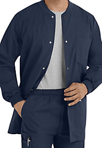 Landau Essentials Mens Warm-up Scrub Jackets