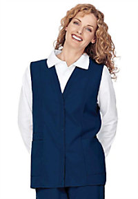 Landau double pocket scrub vest.