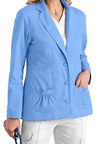 Landau three button lab coat.