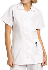 Landau student princess seam scrub top.