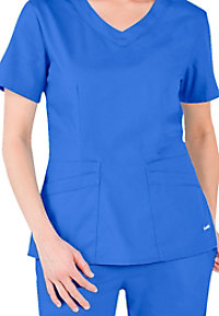Landau Signature v-neck scrub top.