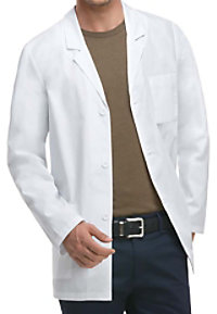 Dickies Professional Whites men's 31 inch consultation lab coat.
