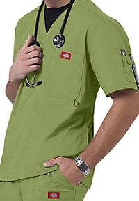 Dickies Gen Flex Youtility mens v-neck scrub top.