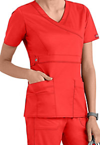Dickies Gen Flex Youtility mock-wrap scrub top.