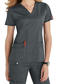 Dickies Gen Flex Youtility v-neck scrub top.