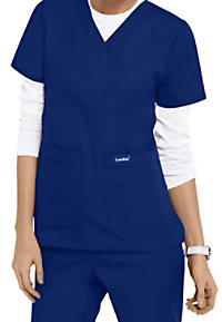 Landau Essentials V-neck 4 Pocket Scrub Tops