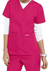 Landau v-neck medical scrub top.