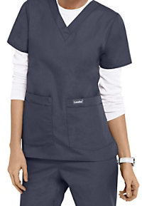 Landau Essentials V-Neck scrub top.