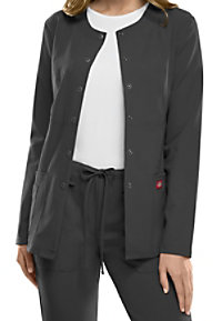 Dickies Xtreme Stretch snap front scrub jacket.