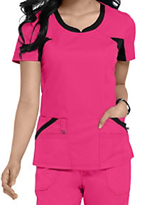 Dickies Performance System v-neck scrub top.