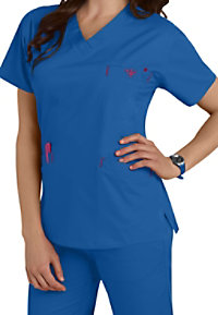 Med Couture Signature v-neck scrub top.