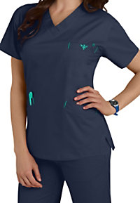 Med Couture EZ Flex Signature V-Neck Scrub Top
