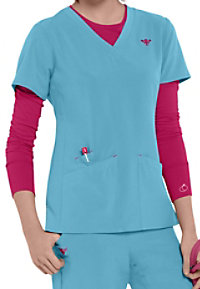 Med Couture Gold Riviera v-neck scrub top.