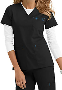 Med Couture Moda Modern Fit V-Neck Scrub Top