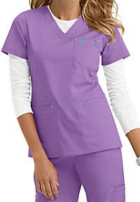 Med Couture Heidi modern fit v-neck scrub top.
