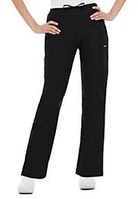 Landau drawstring front elastic back scrub pants