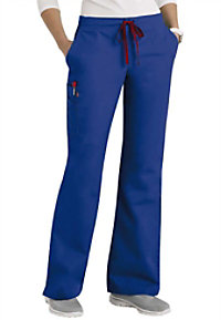 Scrubzone Red Womens Drawstring Scrub Pants