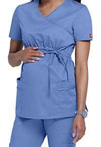 Dickies Gen Flex Youtility mock-wrap maternity scrub top