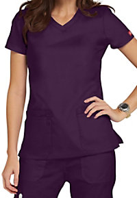 Dickies EDS Signature junior fit v-neck scrub top.