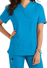 Dickies EDS Signature v-neck scrub top.