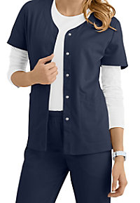 Urbane Ultimate Megan Snap Front Short Sleeve Scrub Jackets
