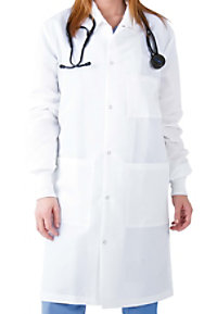 Landau uniforms unisex mid length barrier lab coat.