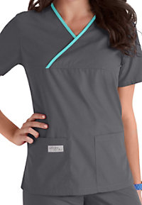 Urbane longer length scrub top.