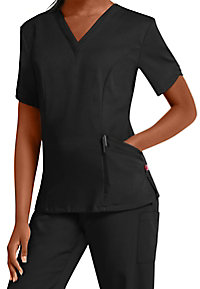 Urbane Ultimate Ella double v-neck scrub top.