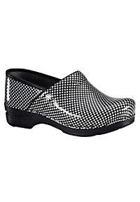 Dansko Pro XP Check Patent women's nursing clogs.