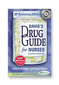 Davis Drug Guide nurses reference book with CD ROM.