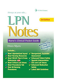 LPN Notes: Nurses Clinical Pocket Guide reference book.