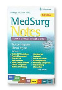 MedSurg Notes: Nurses Clinical Pocket Guide reference book.