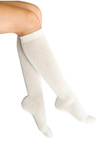 Therafirm light support women's diamond pattern trouser socks.