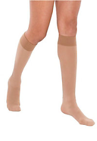 Therafirm light support women's knee-high stockings.