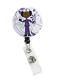 Initial This Stick Nurse Retractable Badge Holders