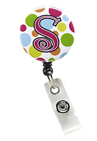 Initial This Multi Dot Retractable Badge Holders