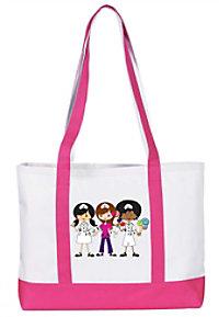 Prestige Nurses trio large canvas tote bag.