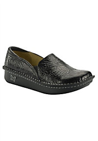 Alegria Debra slip on nursing clogs.