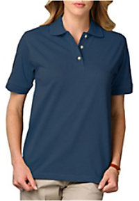 Blue Generation ladies pique polo tee.