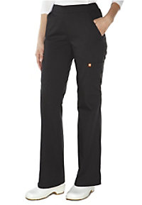 Orange Standard Catalina flat front cargo scrub pants.